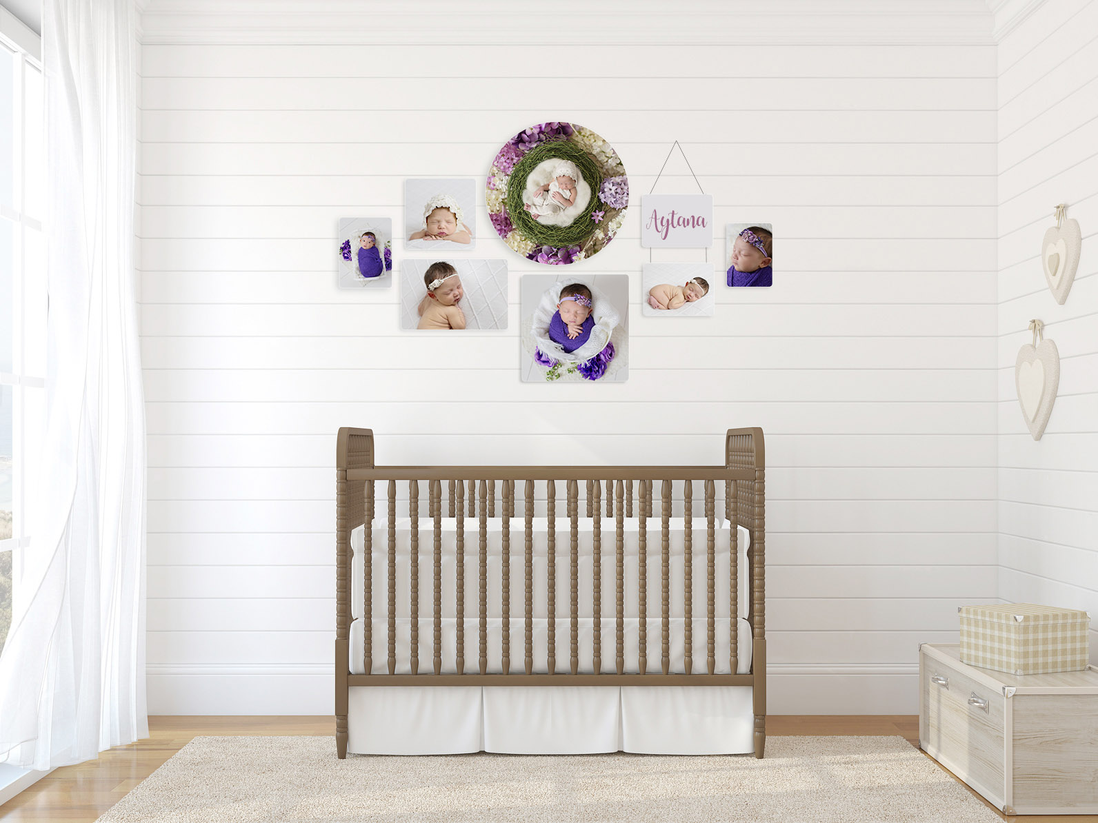 wall collage baby photographer hollywood fl