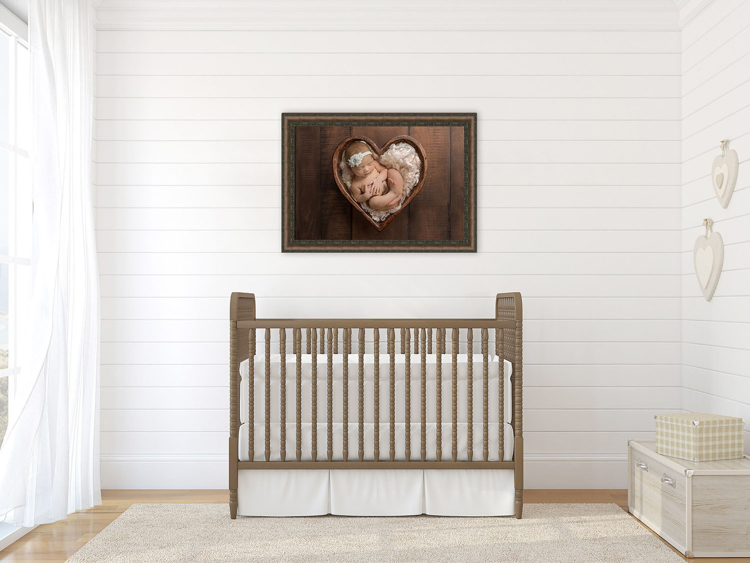 newborn photoshoot wall portrait