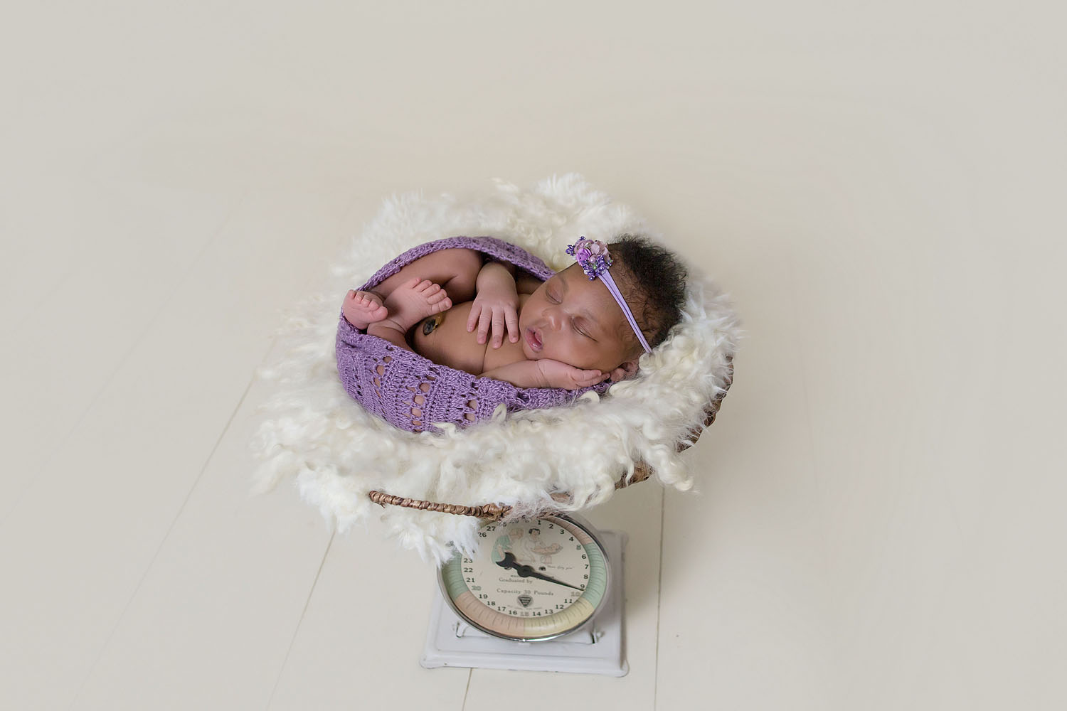 newborn baby photo on scale hollywood