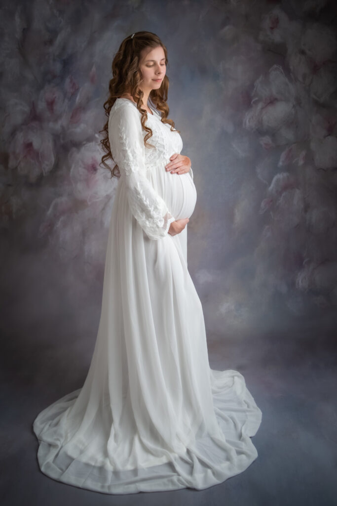 pregnancy photo white dress for maternity