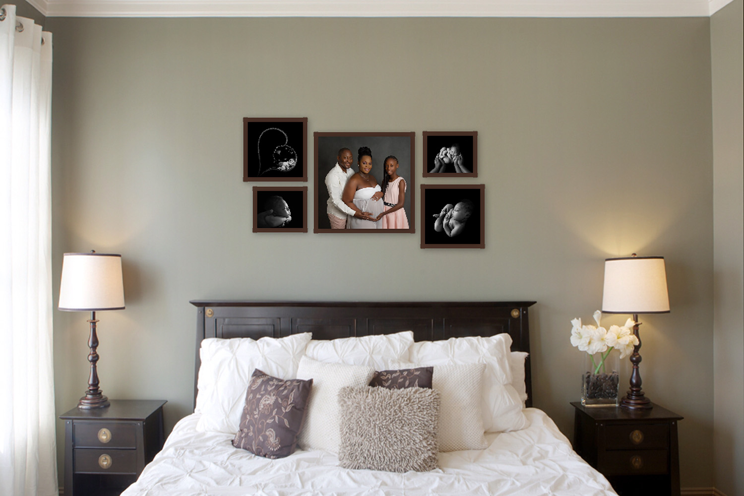 5 wall portraits of family expecting a baby in pembroke pines, fl