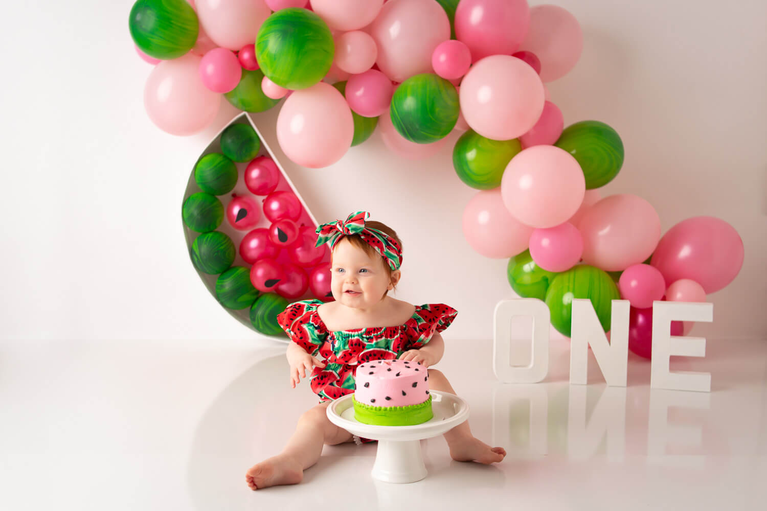 watermelon cake smash one year old